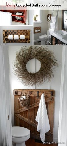 While bathrooms are an essential part of our homes, they sure don't have to be predictable where storage is concerned! Upcycled storage ideas that double as creative decor will offer up instant character to an otherwise standard shmandard kind of room. Read on as eBay shares some great inspiration for the most overlooked and under-decorated room of your house!