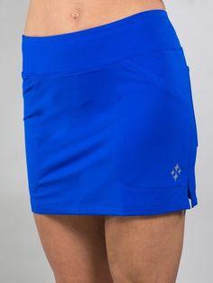 42182216652 JoFit Ladies   Plus Size Jacquard Mina Tennis Skorts - Melon Ball (Cobalt)
