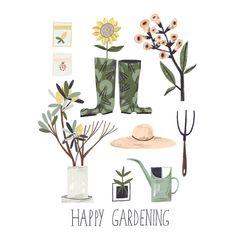 "1,236 Likes, 22 Comments - Adelina Lirius - Illustration (@adelinaillustration) on Instagram: ""gardening time  #plants #garden #illustration #ipadpro #procreate #drawing #instaart #art…"""