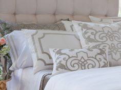 Soho White Linen with Ice Silver Velvet Pillows