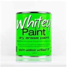 No, it's not white paint that turns a wall into a whiteboard (even though you could easily think that). It's TRANSPARENT paint that turns a surface into a whiteboard. I would cover my whole house. Maybe even the outside.