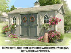 The Workshop Wood Garden Storage Shed Kit - 10 x 14 - WORKSHOP10x14