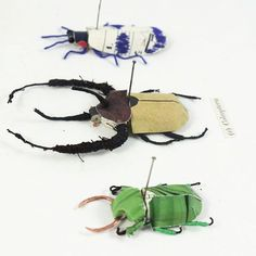 """32 Likes, 2 Comments - Kate Kato (@kasasagi.design) on Instagram: """"All sorts of Coleoptera on display today! (You can find these ones in my etsy shop…"""""""
