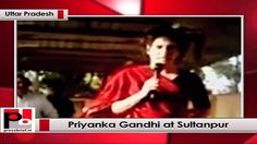 """Priyanka Gandhi Vadra, daughter of Congress President and UPA Chairperson Sonia Gandhi and sister of Party Vice President Rahul Gandhi addressed a public meeting at Sultanpur in Uttar Pradesh where her cousin Varun Gandhi is the BJP candidate.""""Varun has lost his way and we must take him to the correct path"""", she urged."""