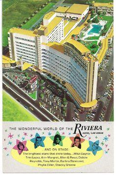 Vintage 1960s Riviera Casino Hotel Las Vegas Barbra Streisand Phyllis Diller | eBay
