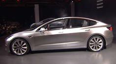 Бюджетный электроседан Tesla Model 3