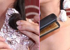 Roll your hair into a coil, rap the coil in tin foil, and press it with your flat iron. The foil conducts the iron's heat and keeps the hair coiled while it cools.