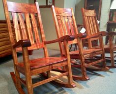 KOA rocking chairs on parade. At the Martin & MacArthur Furniture Workshop in Honolulu, HI Hawaiian Home Decor, Hawaiian Homes, Dream Home Design, My Furniture, Luxury Homes, Rocking Chairs, Kauai, Porch Ideas, Backyard Ideas