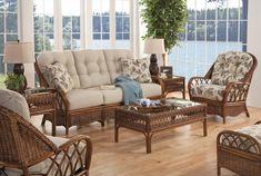 Everglade Rattan 5 Piece Living Room Set Model 905 by Braxton Culler - American Rattan Furniture - Indoor Wicker Furniture, Tropical Furniture, Sunroom Furniture, Furniture Making, Living Room Furniture, Outdoor Furniture Sets, Cane Furniture, Coastal Furniture, Furniture Ideas