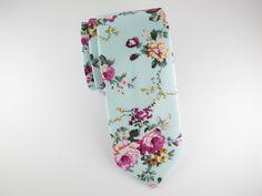 Floral Tie, Caribbean Violet Floral – SuitedMan