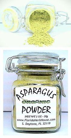 Asparagus Powder 1.0 oz. (28g) - Organic Eco Friendly Gifts! - Eco-Spices!