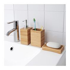 IKEA - DRAGAN, Soap dispenser, , Bamboo is a durable, natural material.Easy to refill as the dispenser has a wide opening.