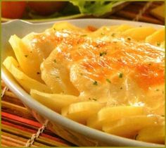 Patatas con queso gratinado