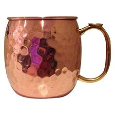 Premium Moscow Mule Copper Mug By Sirqit Pure 100 Solid Unlined 16 oz Hammered Cup with Thumb Rest Unique Perfect Drinkware For Any Chilled Beverage Cocktail Recipes Included >>> Click image for more details. (This is an affiliate link) Copper Moscow Mule Mugs, Copper Mugs, Pour Over Coffee, Perfect Cup, Pure Copper, Drinkware, Cocktail Recipes, Shot Glass, Pure Products