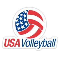 """USA Volleyball"" Stickers by vmpdoodles Volleyball Drills, Volleyball Quotes, Coaching Volleyball, Volleyball Hair, Volleyball Pictures, Basketball Cheers, Basketball Tricks, Pickup Basketball, Ucla Basketball"