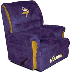 Minnesota Vikings Big Daddy Recliner--what our man cave will contain when we one day own a place!!!!