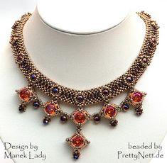 "Necklace ""Drina Victoria"" beaded by PrettyNett.de"