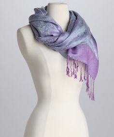 Look at this #zulilyfind! Lavender & Blue Pashmina-Silk Blend Scarf #zulilyfinds