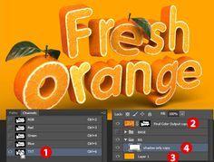 Create a 3D, Fruit-Textured, Text Effect - Tuts+ Design & Illustration Tutorial