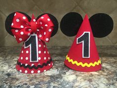 Hey, I found this really awesome Etsy listing at https://www.etsy.com/listing/270730262/mickey-mouse-birthday-hat-and-minnie