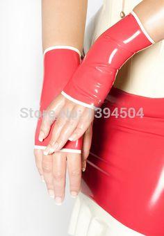 セックス製品ラテックス ゴシック セクシー な ランジェリー女性ショート手袋大人の ゲーム ホット に スプライシング フェチ手首いいえ指女性の カスタマイズ さ れ た