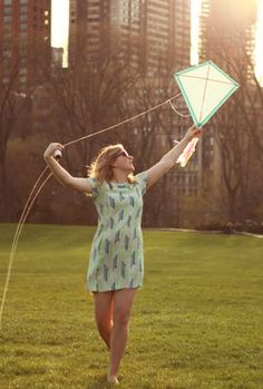 Make your own kite. The site actually gives really good instructions, but the time and materials needed is lengthy