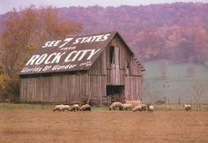 Rock City officially opened as a public attraction on May 21, 1932. Soon after, Garnet Carter enlisted the help of a young sign painter named Clark Byers, who was hired to travel the nation's highways and offer to paint farmers' barns in exchange for letting them paint three simple words: See Rock City. The distinctive black-and-white signs appeared as far north as Michigan and as far west as Texas.