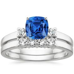 18K White Gold Sapphire Sweetheart Matched Set (1/4 ct. tw.) from Brilliant Earth