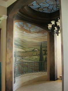 Entryway Tuscan Mural, via Flickr.