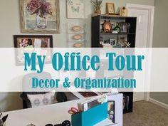 My Office Tour   Decor & Organization - YouTube