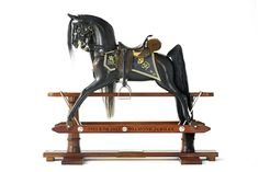 Diamond Jubilee Chuchill's Charger, a limited edition rocking horse by Stevenson Brothers Rocking Horses