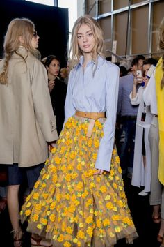 Backstage  Michael Kors Spring 2015 backstage. Photo by Kevin Tachman.