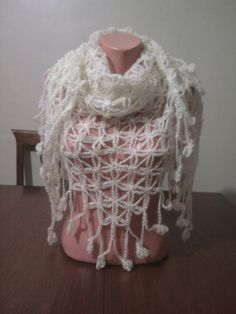Mothers day gift / White Angora Shawl by YARNARTWORLD on Etsy, $40.00