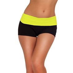 Sexy Mini Knockout Yoga Exercise Gym Workout Cotton Fitted Spandex Shorts – USD $ 8.99