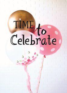 verjaardagskaart vrouw - gefeliciteerd-vrouw-time-to-celebrate