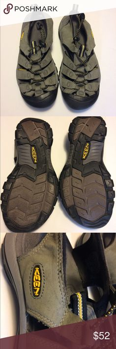 Keen Water Shoes These Keens have been worn but are in good condition. These are great for the outdoor woman who loves hiking or playing at the river. These Keens have waterproof  leather and a no marking sole. Shoes Sandals