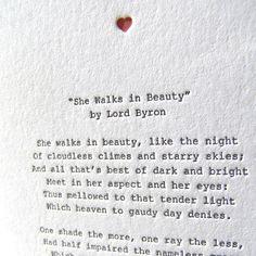 Letterpress Note Card - Love Poetry (Byron)