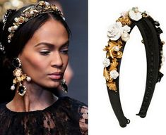 Hair & Head Jewelry Nuevo Dolce & Gabbana Diadema Terciopelo Morado Latón Perla Cristal