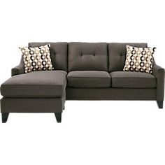 Cindy Crawford Home Madison Place Slate 3 Pc Sectional Living Room - Living Room Sets