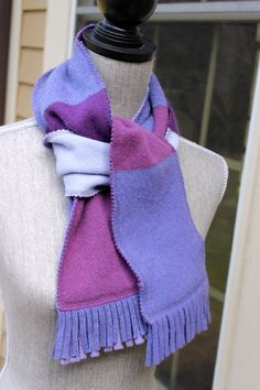 Hey, I found this really awesome Etsy listing at https://www.etsy.com/listing/183486448/recycled-cashmere-scarf-purple