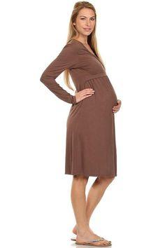 56776461b64e7 Talia Surplice Neck Nursing Dress Nursing Dress, Nursing Tops, Maternity  Tops, Maternity Dresses