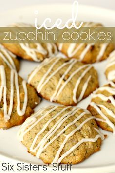 Iced Zucchini Cookies from SixSistersStuff.com- the perfect way to use up all those zucchinis from your garden! #zucchini #summer #sixsistersstuff