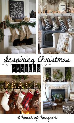 Beautiful Christmas Mantles - House of Hargrove See over 20 stunning mantles from rustic, country, glam, farmhouse, neutral, traditional and be inspired to create a stunning one in your own home.