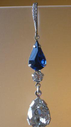 Sapphire Tears Earrings by 310jewelry on Etsy
