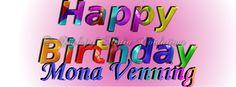 #HappyBirthday #Graphics #SoulcialMe #pinkRadialBlend Mona Venning