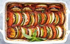 This vegan ratatouille recipe teaches you how to make a vegan version of a traditional dish from the French countryside. It's both beautiful and delicious! Whole Foods, Whole Food Recipes, Cooking Recipes, Vegan Casserole, Casserole Recipes, Vegetable Casserole, Vegan Foods, Vegan Dishes, Vegan Meals