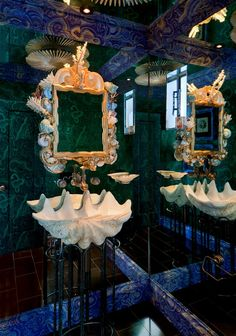 hutton wilkinson rooms | Hutton Wilkinson, Tony Duquette powder room | AT THE BEACH - LARGER H ...