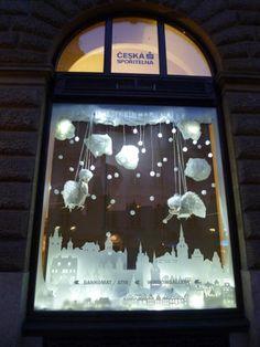 Interactive christmas window display