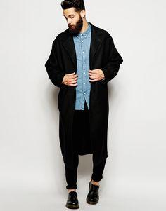 ASOS Duster Coat In Black