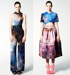 galaxy print  Too cool! There are tons of galaxy-printed skirts and dresses at modcloth.com, too.